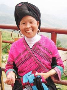 Fröhliche Chinesin
