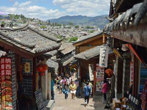 Eine Gasse in Lijiangs Altstadt
