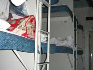 Hardsleeper - Abteil mit 6 Betten