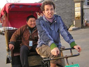 Eine Riksjafahrt mit Einheimischen