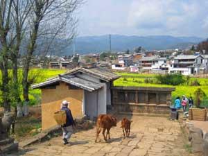malerischer Blick auf Shaxi