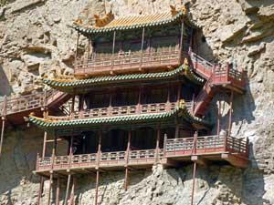 das hängende Kloster in Datong