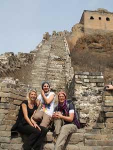 Gruppenfoto auf der Chinesischen Mauer