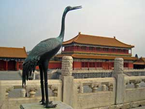 Blick auf die verbotene Stadt in Beijing