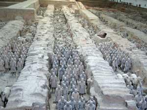 Ausgrabungsstätte Tonsoldaten