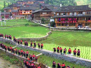 Longsheng Reisterrassen: Einhemische von Dazhai