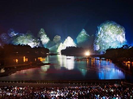Südchina Ausflüge: Lichtershow Yangshuo