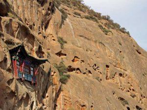 """Die """"Tausend Buddhas"""" Höhle am Eingang zu Matisi"""