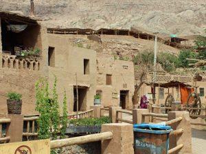 Dorf Mazar in der Nähe von Turpan