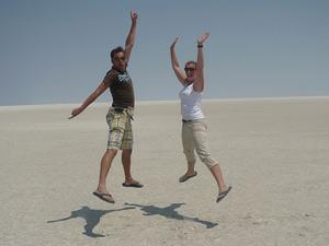 Makgadikgadi zoutvlakten in Botswana