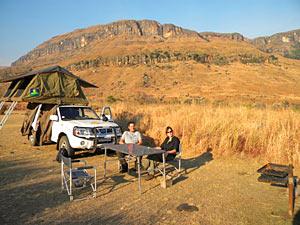 4x4 campsite Drakensberg
