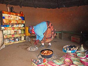 Brood bakken in Lesotho