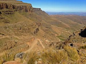 Sani pass route - koninkrijken Zuid-Afrika