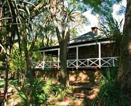 Koloniale lodge Mlilwane, Swaziland