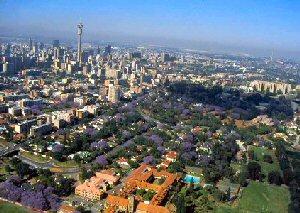 Johannesburg vanuit de lucht