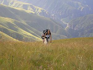 Hiken op de Drakensberg