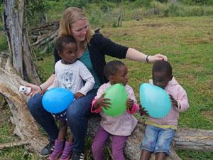 Reisspecialist Judith bij hulpproject Zuid-Afrika