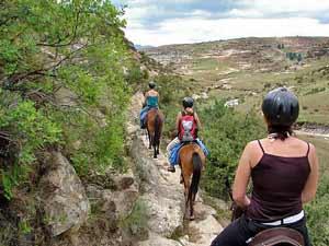 Paardrijden in Lesotho - Zuid-Afrika
