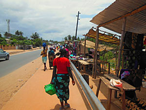 Lokale markt in Mozambique