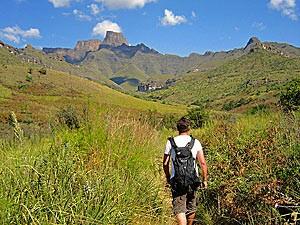 Reis Zuid Afrika, wandelen in de Drakensberg