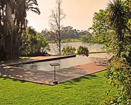 Tuin bij wijnboerderij - Stellenbosch