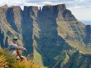 Uitzicht bij Drakensbergen