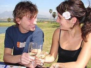 Wijn drinken in Stellenbosch