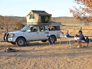 Zuid-Afrika reizen 4wd met tent