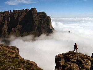 drakensbergwolken zuid afrika