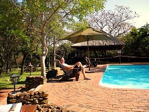 Safari lodge omgeving Kruger