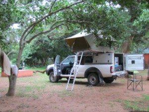 Kamperen in Zuid-Afrika 4x4 uitgeklapt