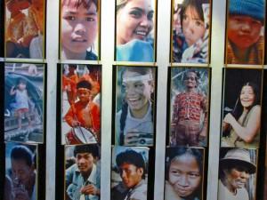 Plakat mit Geischter der Philippinen im Manila Museum
