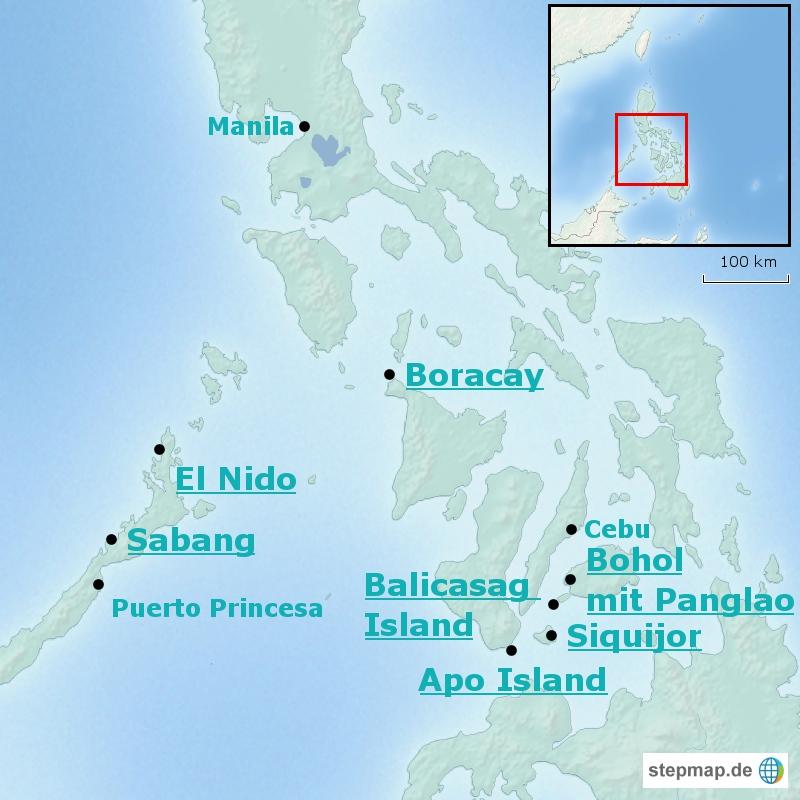 stepmap-karte-philippinen-karte-straende-und-inseln