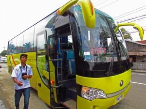 Bus von Ceres Line auf den Visayas