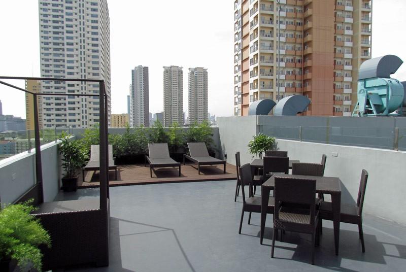 Dachterrasse vom Hotel in Manila