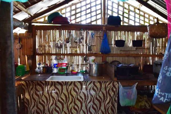 Philippinen valencia homestay Haus Küche