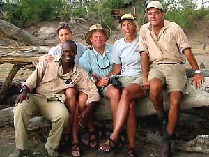 Safariguide mit einer Gruppe