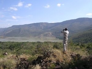 Ausblick auf einen See in Kenia