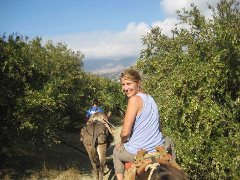 Griechenland Amorgos Eselritt Ausflug
