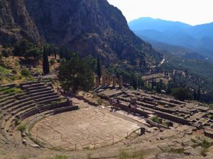 Orakel von Delphi Ruinen