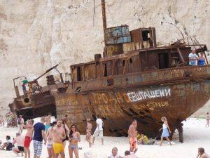 Zakynthos Reise Bootstour Shipwreck Beach