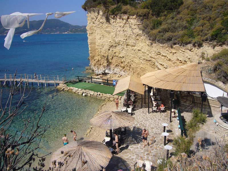 Peloponnes Rundreise - Strandbar auf Zakynthos