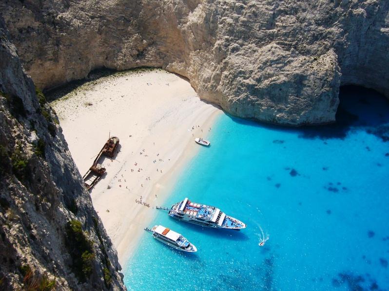 Warum nach Griechenland reisen? Zakynthos Reise Navagio Shipwreck Beach