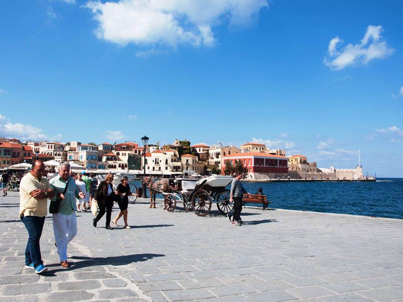 Chania Griechenland Kreta Hafen Ausflug