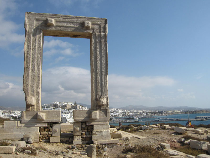 Naxos Griechenland Kykladen Portara