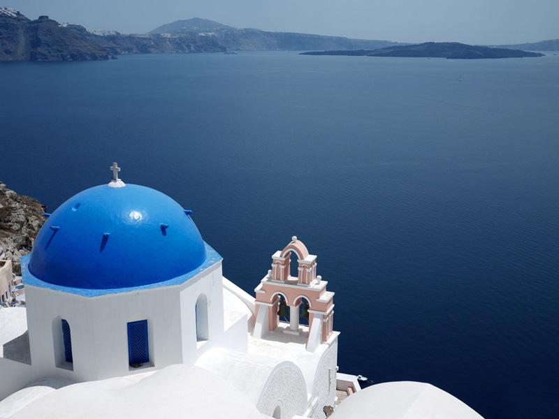 Santorini Reise Kykladen Griechenland Vulkan