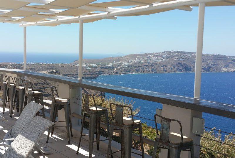 Griechenland Kykladen Rundreise Santorin Klippenhotel