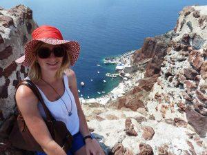 Santorini Reise Griechenland Kykladen Steilküste