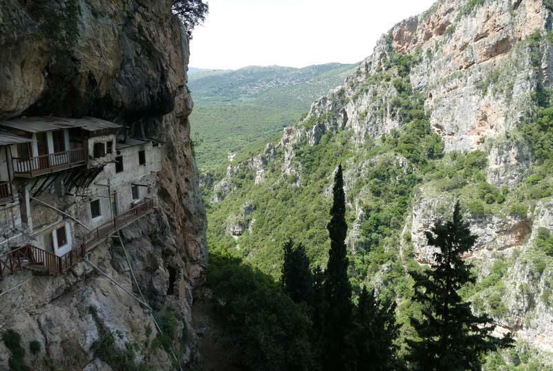 Wandern Griechenland Bergdorf Dimitsana Peloponnes