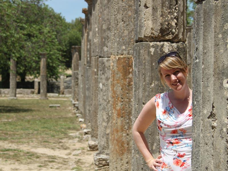 Olympia Griechenland Antike Säulen Reise